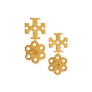 Tory Burch 16K Gold PL Stud Earrings